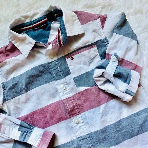 Tommy Hilfiger Other - TOMMY HILFIGER • Stripe Red|White|Blue Button Down